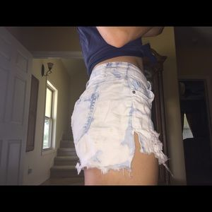 Vanilla Star Shorts - Tie dye denim shorts